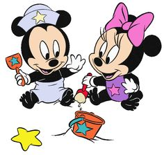 Baby Mickey & Minnie in Sand
