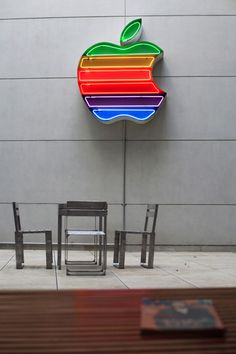 Neon Apple Logo .... Reminds me of my first computer