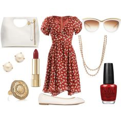 A fashion look from November 2014 featuring tea-length dresses, ballet flats and tote purses. Browse and shop related looks. Shoe Bag, Polyvore, Stuff To Buy, Shopping, Design, Women, Fashion, Moda, Fashion Styles