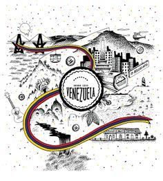 Marlana Font / http://www.behance.net/gallery/Venezuela-un-pais-Multicolor/15738651
