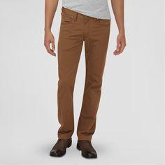 Dickies Men's Slim Fit Taper Leg 5-Pocket Pants Dark Brown 34X30