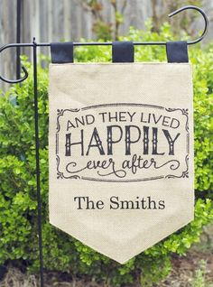Personalized Burlap Garden Flags | 3 Styles to see on Jane! #family #welcome #giftidea