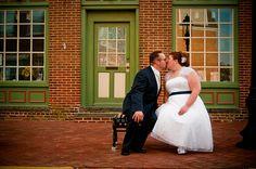 Plus size bride, tea length dress