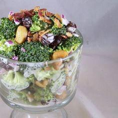 Craving Comfort: Best Broccoli Salad EVER! (re-do)  http://cravingcomfort.blogspot.com/2011/08/best-broccoli-salad-ever-re-do.html#