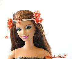 Gypsy Rose Headband  Gothic headband for barbie by istanbuldoll, $7.00