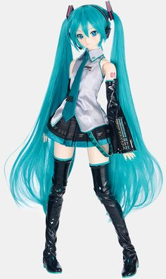 Hatsune Miku Doll, Miku Hatsune Cosplay, Miku Chan, Barbie, Arte Sketchbook, Anime Figurines, Dream Doll, Mode Shop, Anime Dolls
