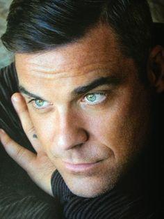 Robbie Williams green eyes / los ojos más hermosos que he visto en vivo