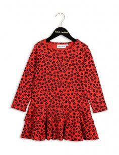 Mini Rodini Leopard Dress | Red