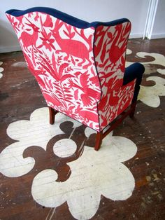 otomi coverlet from l'aviva home re-imagined. upholstery work (and photo) by chairloom.