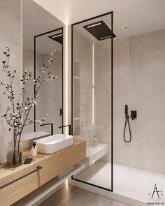 Home Room Design, Home Interior Design, House Design, Bathroom Design Luxury, Modern Bathroom Design, Scandinavian Bathroom Design Ideas, Washroom Design, Minimal Bathroom, Contemporary Bathrooms