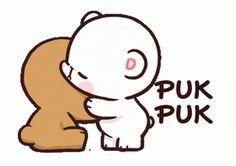 Cute Couple Cartoon, Cute Cartoon Pictures, Cute Couple Art, Cute Love Pictures, Cute Love Memes, Cute Love Gif, Cute Cat Gif, Cute Bear Drawings, Cute Cartoon Drawings
