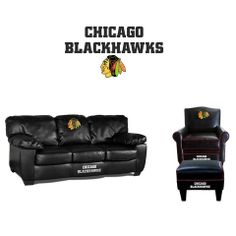 Chicago Blackhawks Leather Furniture Set
