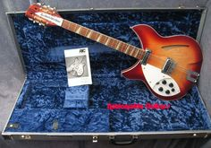 one of the last all-American made guitar companies in existence today. rickenbacker has backed The Beatles, The Who, The Byrds, The Jam, R.E.M., The Smiths and scores of other bands over the years. this is a left handed model of the same type as George Harrison's. 360V64-12.