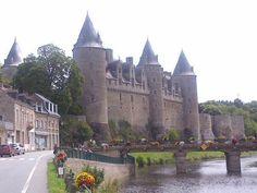 Chateau de Josselin in Brittany where Jasper Tudor was kept prisoner from 1473-76