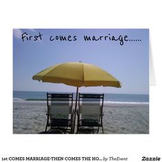 1st COMES MARRIAGE-THEN COMES THE HONEYMOON!