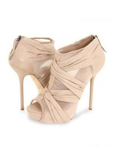 Beige Sheepskin Translucent Wrapped 4 5/7'' Womens Fashion Shoes - Ankle Boots &amp