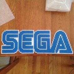 Sega logo perler beads by That Perler Nerd