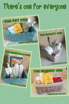 try one of my forever living aloe Vera pamper hampers completely FREE. Yours for 48 hrs to indulge in a bit of me time with some natural, cruelty free, aloe based products. this is just a small; selections of my various baskets. Theres even one for your pets to try! Www.thealoeladyuk.com