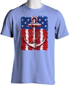 e7bb00b4a3 Patriotic American Flag T Shirt Navy Anchor Hipster Small to 6XL Free  Shipping  TShirtsRule