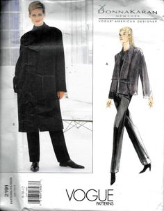 Vogue Designer 2191 DONNA KARAN Jacket And Pants Sewing Pattern Size 8, 10 and 12 UNCUT