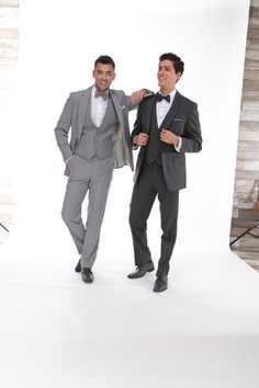 Tuxedos in shades of gray @ Milroy's Tuxedos