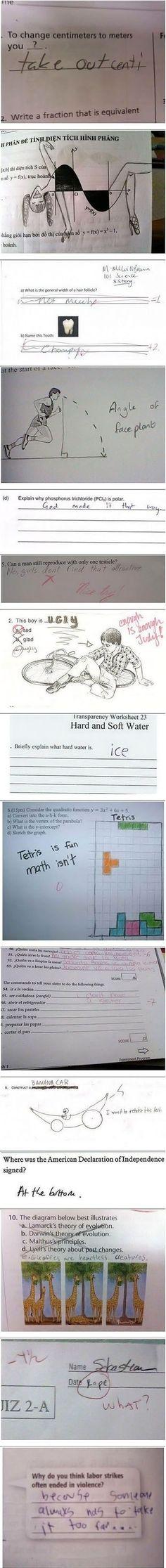 How to fail a test