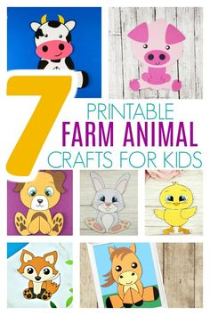 Free Printable Farm Animal Crafts for Kids - Simple Mom Project Farm Animal Crafts, Animal Art Projects, Animal Crafts For Kids, Crafts For Kids To Make, Projects For Kids, Farm Animals, Project Projects, Children Crafts, Rabbit Crafts