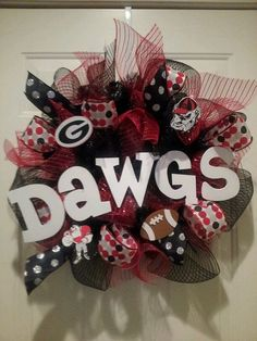 Collegiate wreath by SouthernSassies on Etsy, $75.00