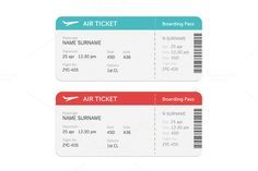 Set of the airline boarding pass by Di Bronzino on @creativemarket