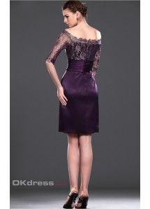 1/2 Sleeves Knee-Length Cocktail Dresses