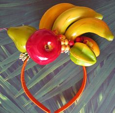 Tropical Fruits Headband  Carmen Miranda style  by olgadesigns, $28.00
