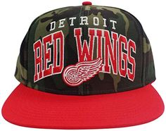 Detroit Red Wings Camouflage Top Adjustable Snapback Hat / Cap – Detroit Sports Outlet