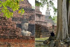 Shawn sits on the grounds of Wat Mahathat Temple in Sukhothai, Thailand.  #Sukhothai #Thailand #culture