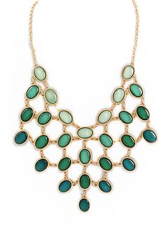 Emerald Cascade Necklace – Modeets  Great inexpensive finds.