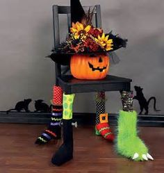 Yahoo! Image Search Results - picture only but LOVE the idea - shoes and socks on chair legs.