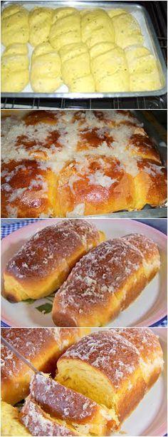 Pão de abóbora japonesa Kitchen Recipes, Cooking Recipes, Brazillian Food, Ramadan Recipes, Portuguese Recipes, Galette, Sweet Bread, Scones, Food Hacks