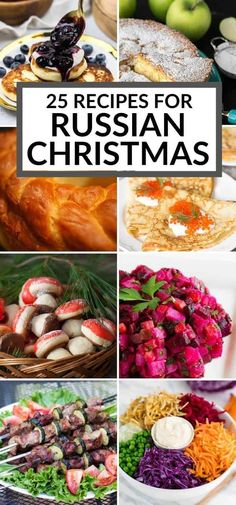 Celebrate Russian Christmas with these traditional Russian food recipes. You will find a variety of sweet and savory dishes often served for the holiday. Russian Christmas Food, Christmas Dishes, Xmas Food, Russian Christmas Traditions, Russian Dishes, Russian Recipes, Russian Foods, Russian Desserts, Russian Tea