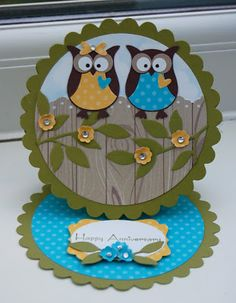 UK Independent Stampin' Up! Demonstrator - Julie Kettlewell: Twit Twoooo - Owl Class at 2!