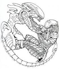 predator vs jason coloring pages - photo#9