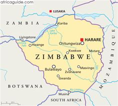 Zimbabwe map with capital Harare World Map Europe, Zimbabwe Africa, Planetary System, African Map, Travel Information, Africa Travel, Countries Of The World, Planer, South Africa