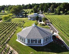 Waupoos Estates Winery is nestled between vineyards and overlooking Prince Edward Bay.