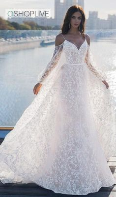Wonderful Perfect Wedding Dress For The Bride Ideas. Ineffable Perfect Wedding Dress For The Bride Ideas. Backless Maxi Dresses, Maxi Dress Wedding, Perfect Wedding Dress, Dream Wedding Dresses, Bridal Dresses, Wedding Gowns, Off White Wedding Dresses, Elegant Wedding, Evening Dresses With Sleeves