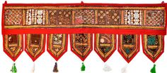 Lend a sophisticated accent to your home decor with this beautiful handcrafted decorative hanging TORAN door topper valance, they features a beautiful, traditional, hand- embroidered pattern that brings the vibrancy and color of Indian patchwork art into your home.