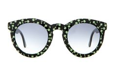 Eye Sunglasses - Gloss Black w/ Green Palms & Grey Gradient Lenses People Style Watch, Lenses, Eyewear, Palms, Sunglasses, Grey, Accessories, Black, Tv