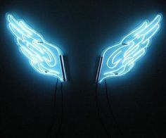 Imagen de neon, wings, and blue