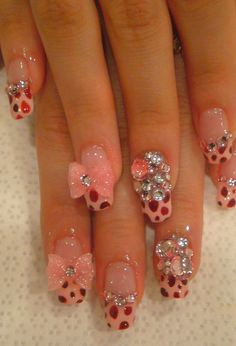 so cute nail design,love this!. #nail #nails .click to see more Lovely Nail Art Ideas for Summer     Healthy products cheaper with iHerb coupon OWI469 http://youtu.be/4yfEGZnJ96M     #nails