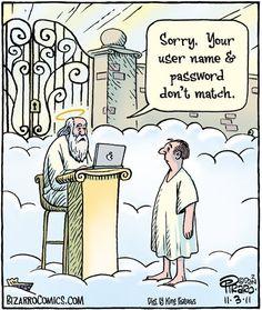 ideas for memes cartoon religious humor Christian Comics, Christian Cartoons, Christian Jokes, Bizarro Comic, Frases Humor, Memes Humor, Tech Humor, Humor Quotes, Funny Cartoons