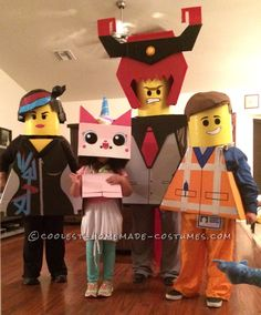 Lego Movie Obsessed Boy with Autims Gets the Whole Family to Join the Fun... Coolest Halloween Costume Contest