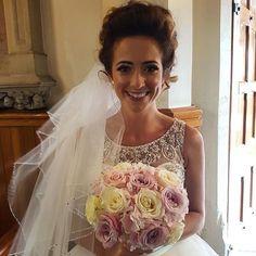 wedding hair down hair up up do vintage messy sleek bridal hair dresser makeup artist Wirral Liverpool volume front natural bridal makeup