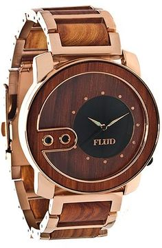 Flud Watches The Exchange Wood Watch in Rose Gold Rosewood : Karmaloop.com - Global Concrete Culture
